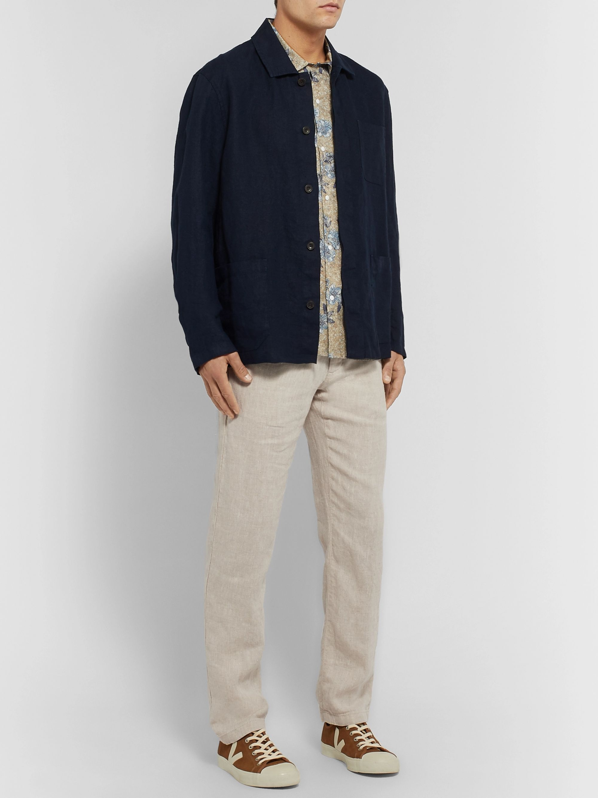 NN07 Karl Slim-Fit Linen Trousers