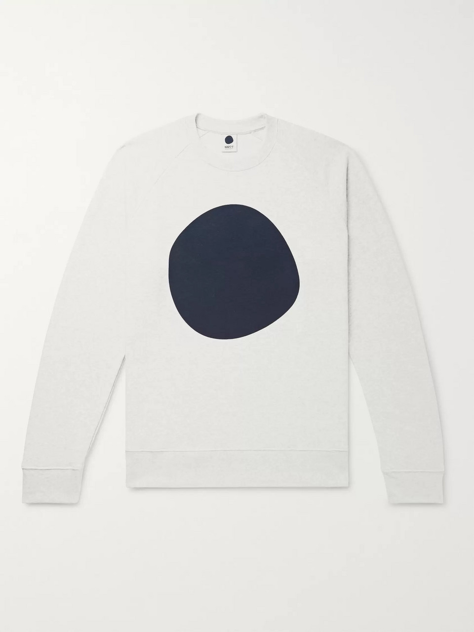 NN07 Geoff Printed Mélange Loopback Cotton-Blend Jersey Sweatshirt
