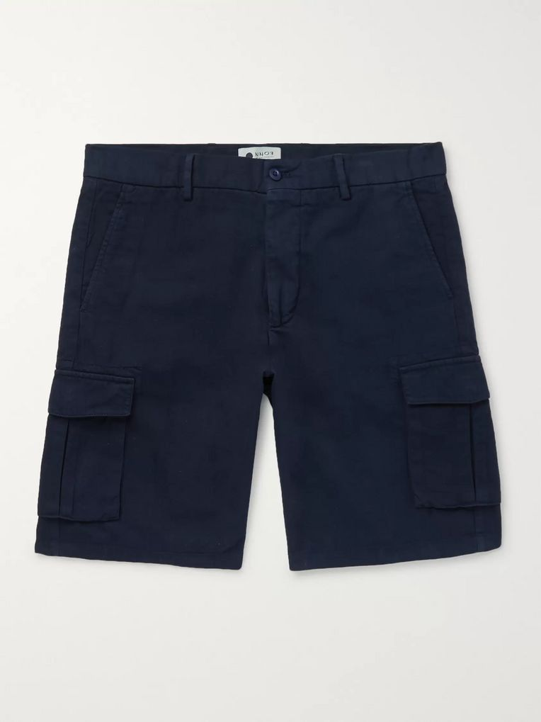 NN07 Cotton, Lyocell and Linen-Blend Cargo Shorts