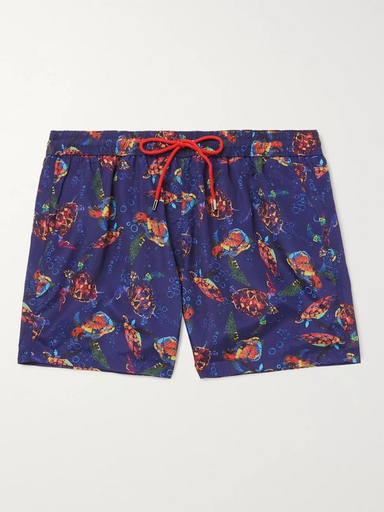 Paul Smith Mid-Length Printed Shell Swim Shorts