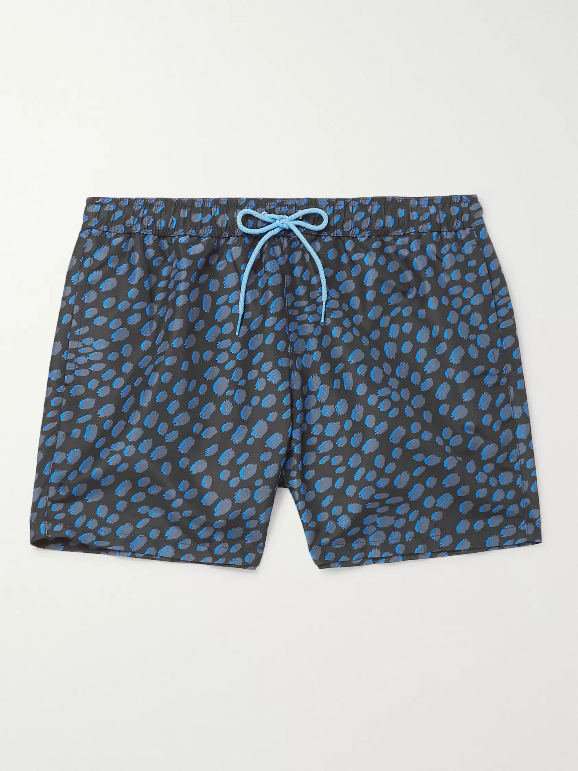 Paul Smith Mid-Length Leopard-Print Shell Swim Shorts