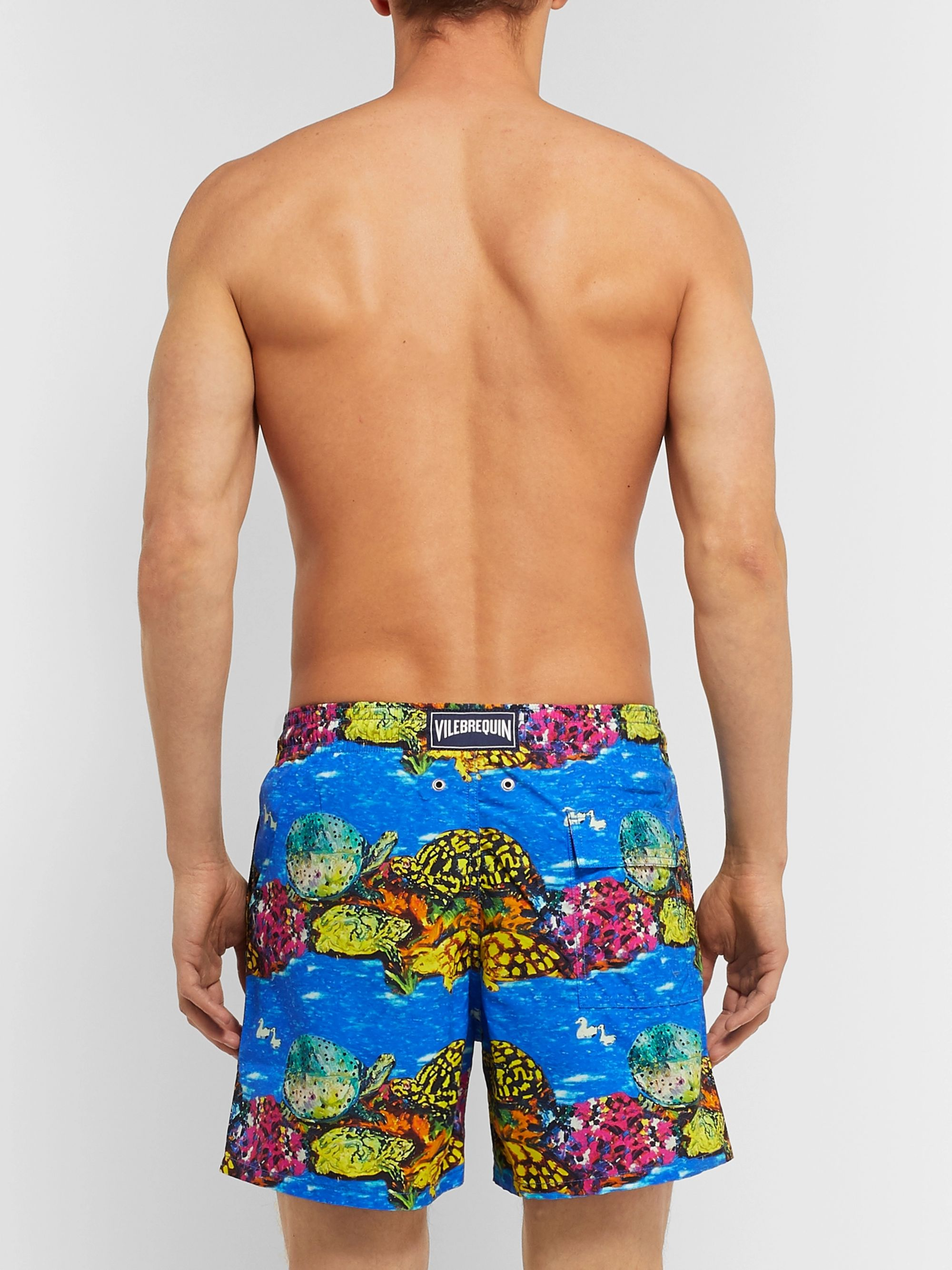 Vilebrequin + Hunt Slonem Moorea Mid-Length Printed Swim Shorts