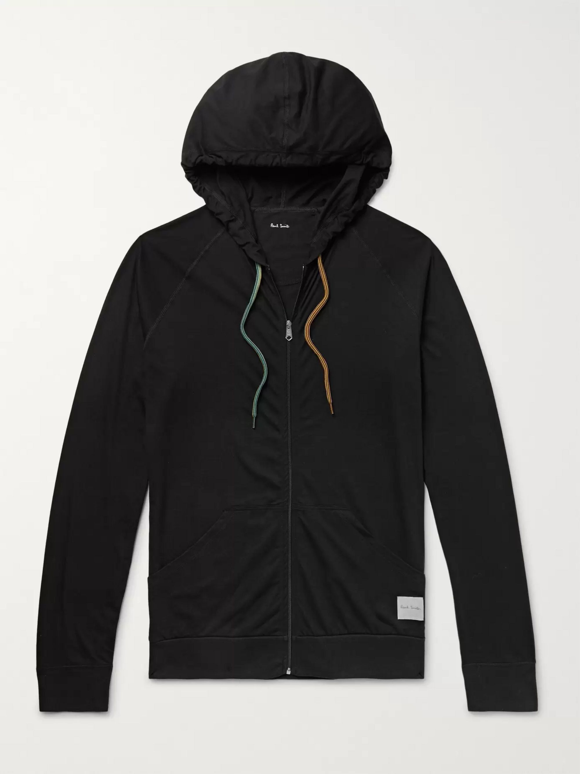 Cotton Jersey Zip Up Hoodie by Paul Smith
