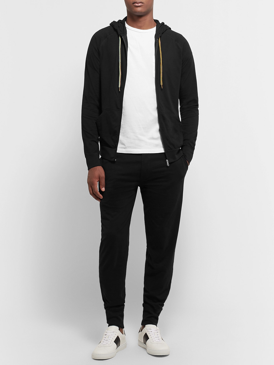 Paul Smith Cotton-Jersey Zip-Up Hoodie