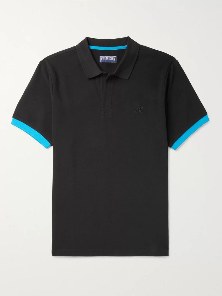 Vilebrequin Palatin Slim-Fit Contrast-Trimmed Cotton-Piqué Polo Shirt