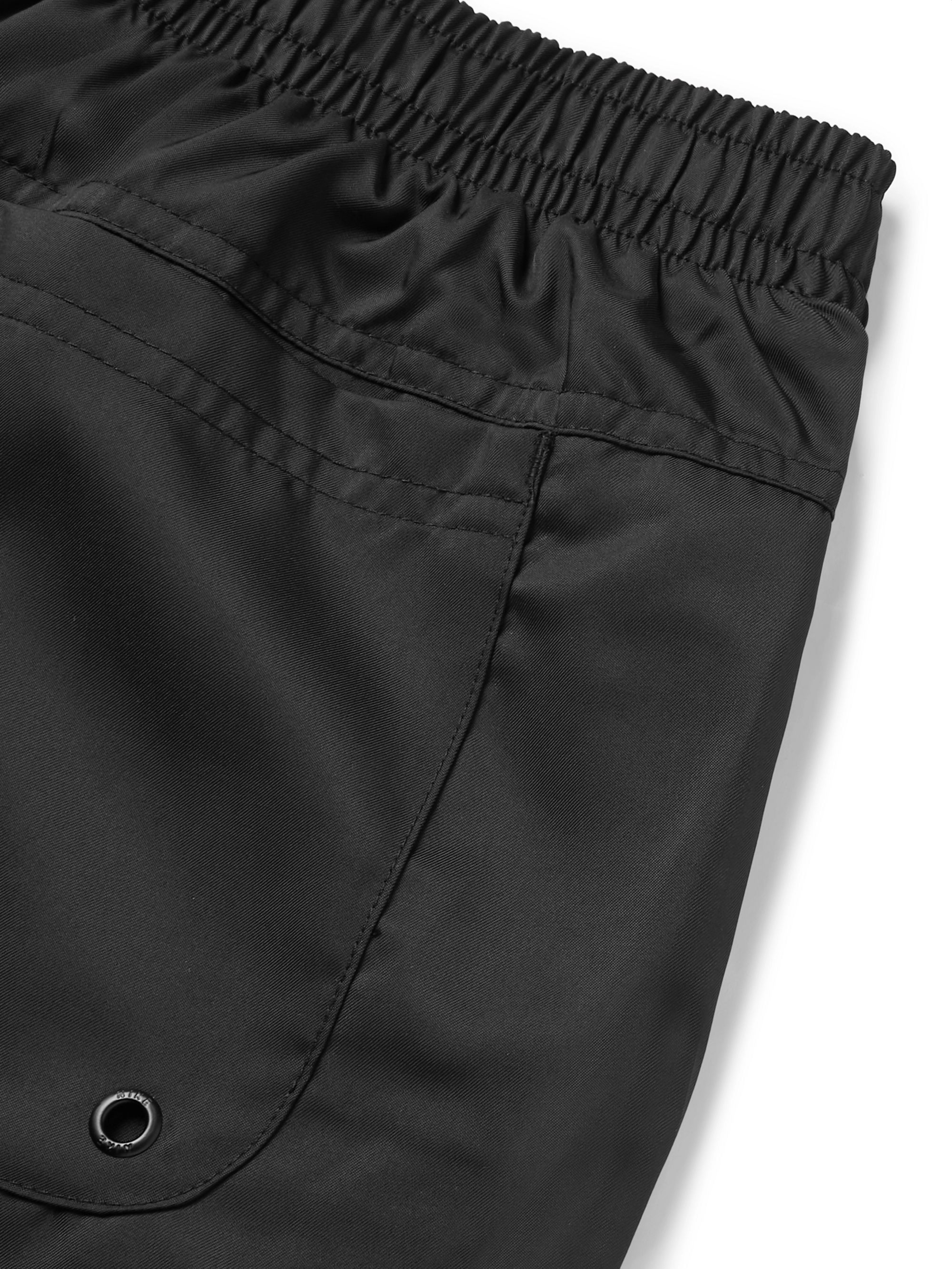 Nike Flow Wide-Leg Logo-Embroidered Shell Drawstring Shorts