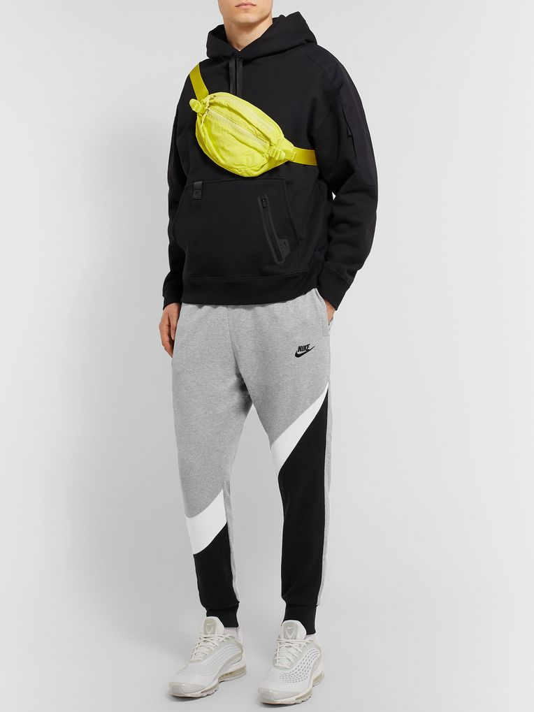 Nike Slim-Fit Tapered Logo-Print Loopback Cotton-Blend Jersey Sweatpants