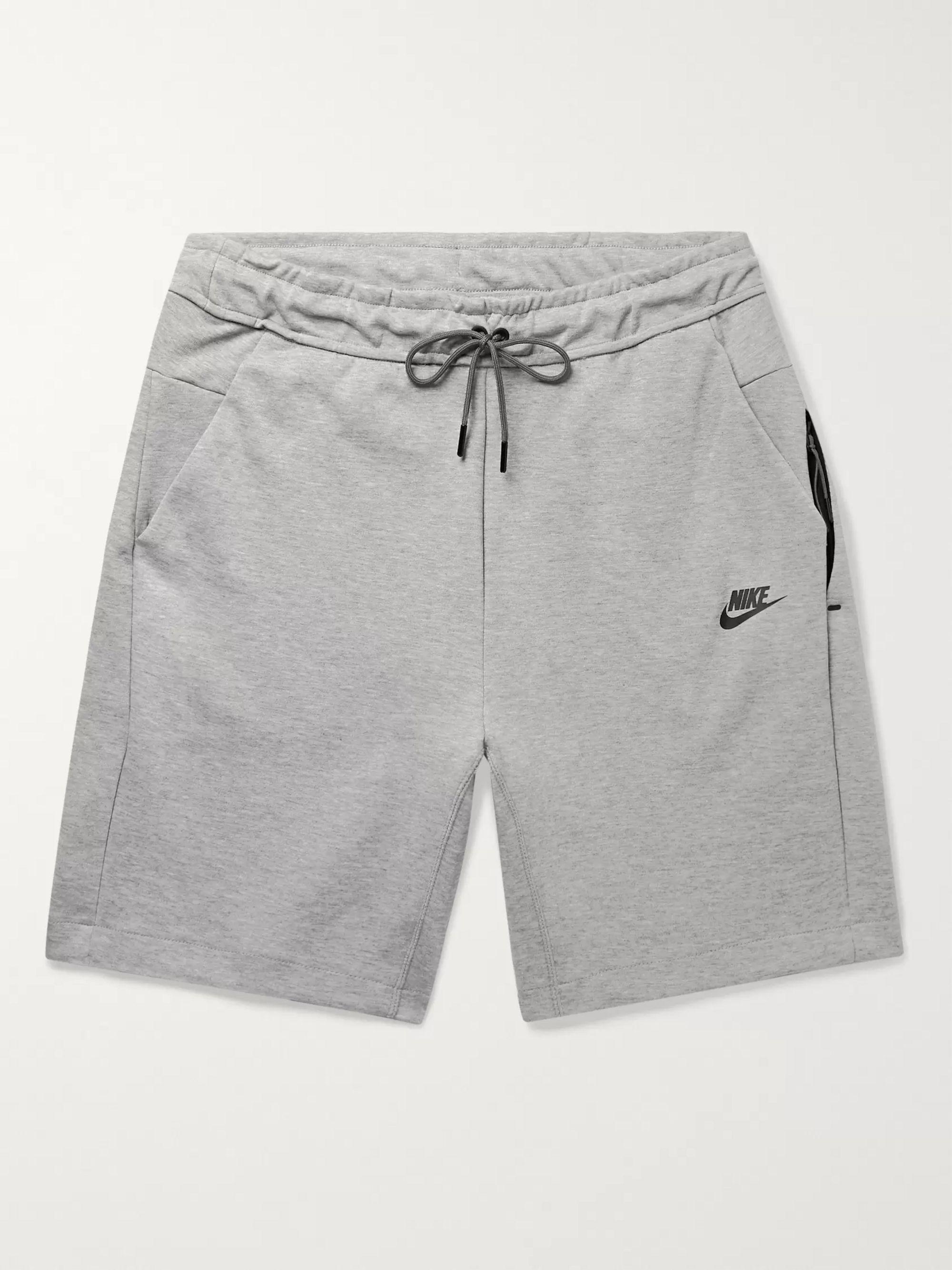 Sportswear Mélange Cotton Blend Tech Fleece Shorts
