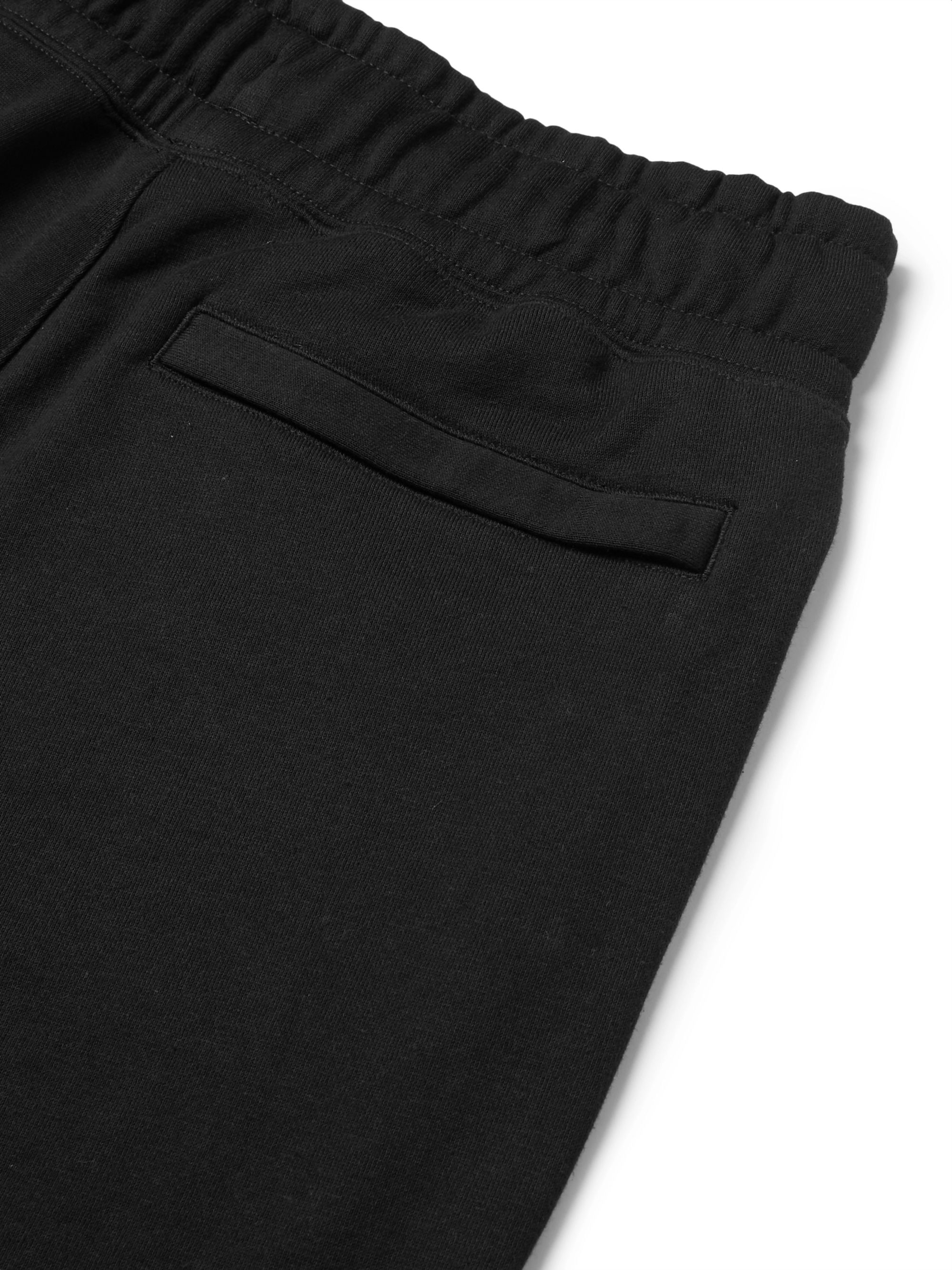 Nike Slim-Fit Tapered Panelled Loopback Cotton-Blend Jersey Sweatpants