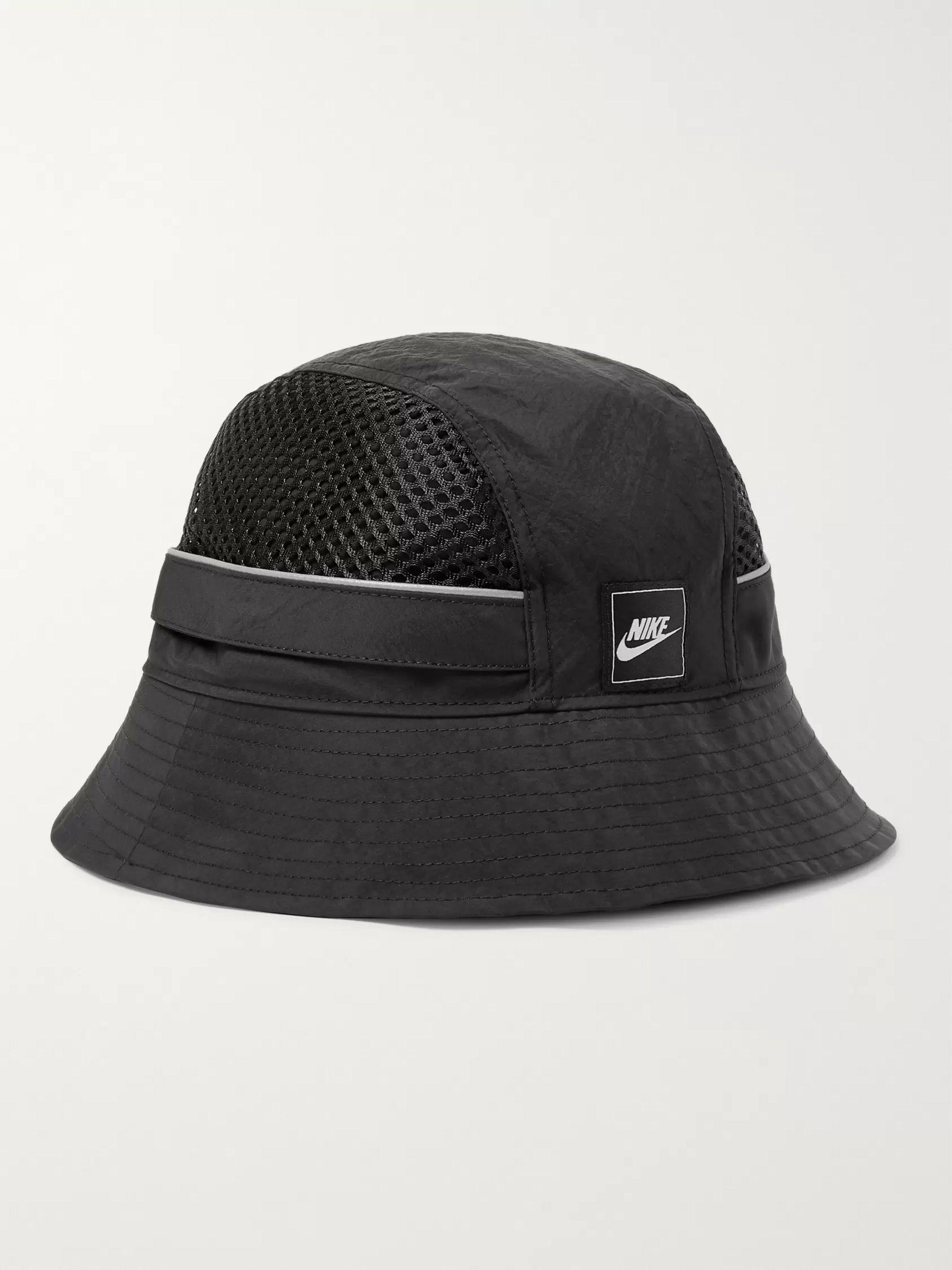 92bc2b2e9 Sportswear Logo-Appliquéd Nylon and Mesh Bucket Hat