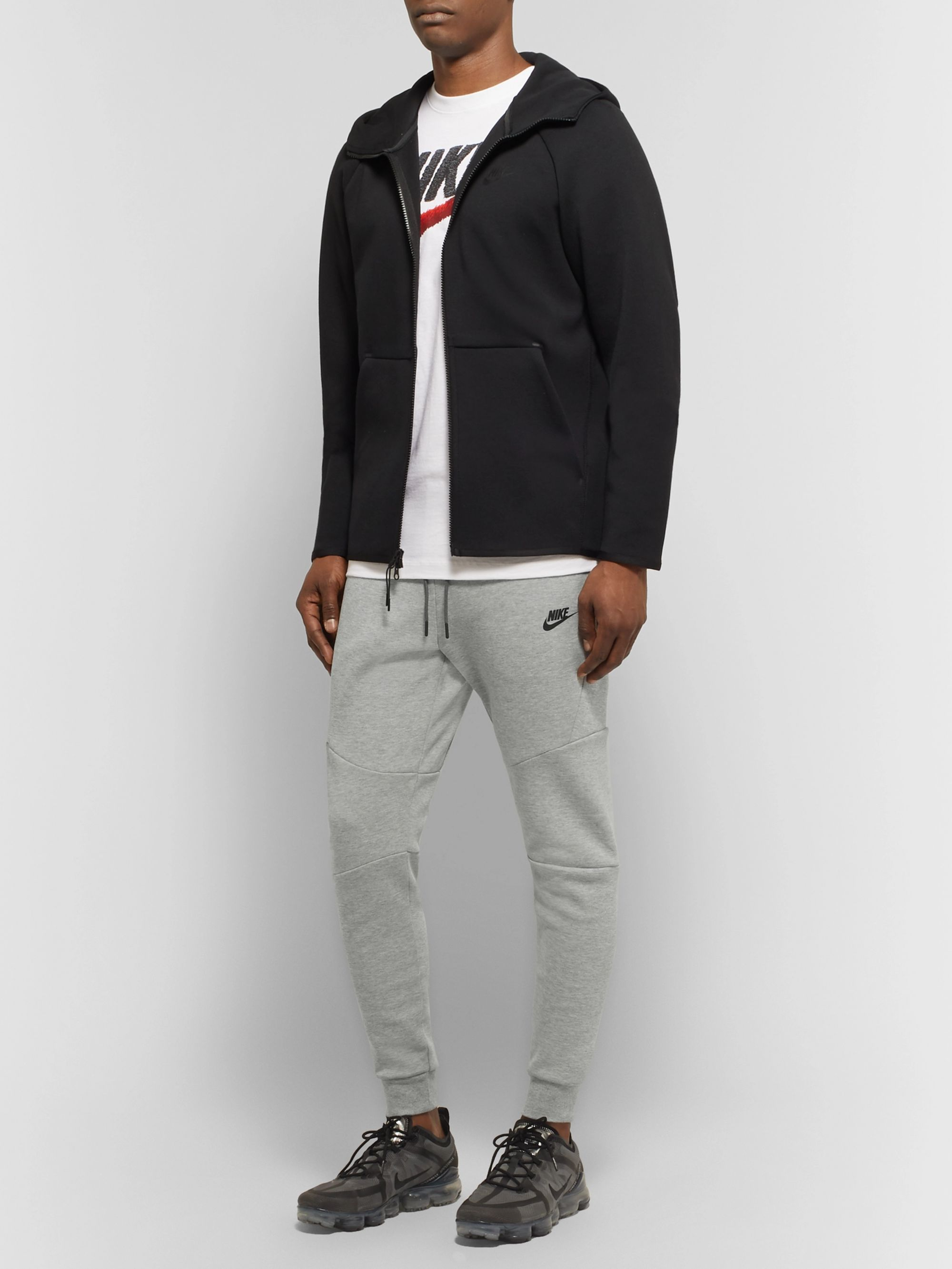 Nike Sportswear Slim-Fit Tapered Mélange Cotton-Blend Tech Fleece Sweatpants