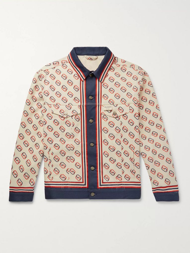 Gucci Logo-Print Denim Jacket
