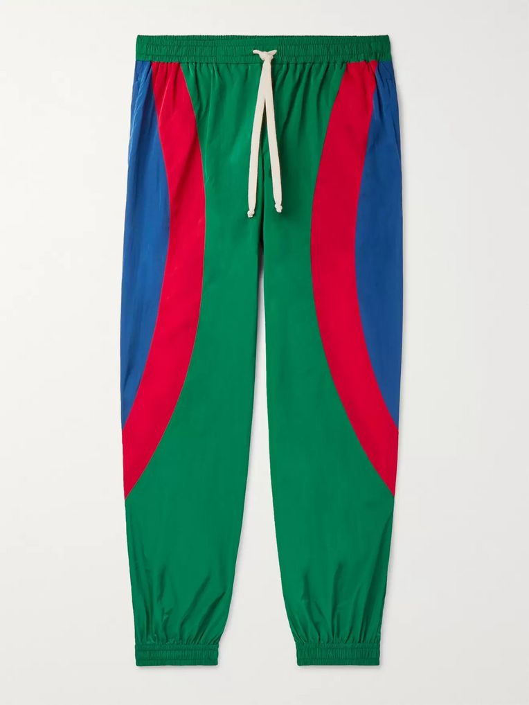 Gucci Tapered Logo-Appliquéd Nylon Track Pants