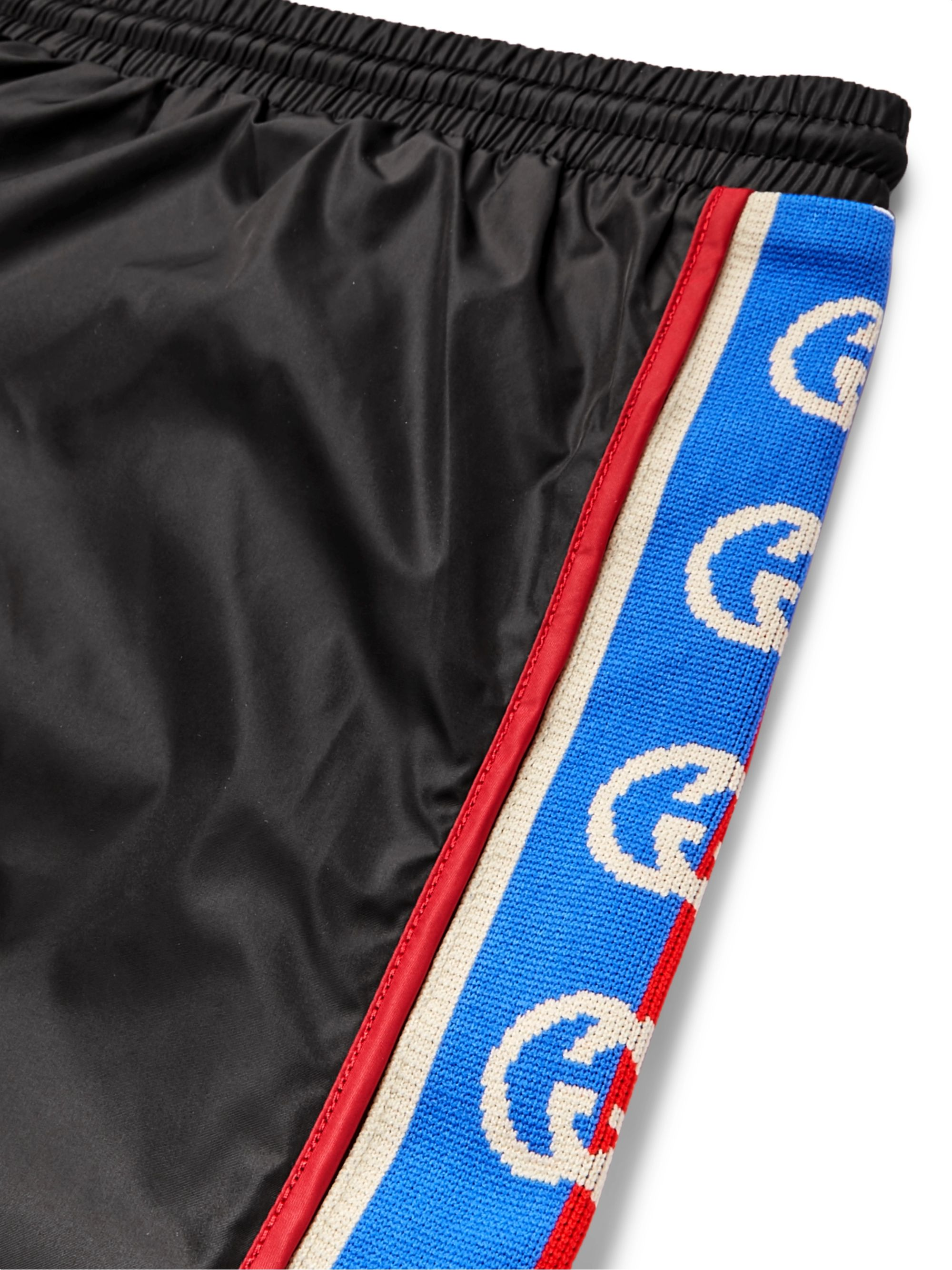 Gucci Slim-Fit Mid-Length Logo Webbing-Trimmed Swim Shorts