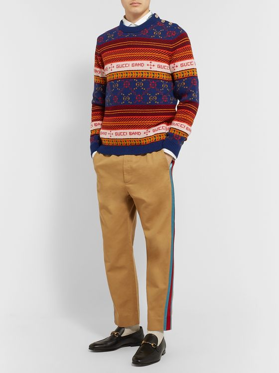 GUCCI Slim-Fit Wool-Jacquard Sweater