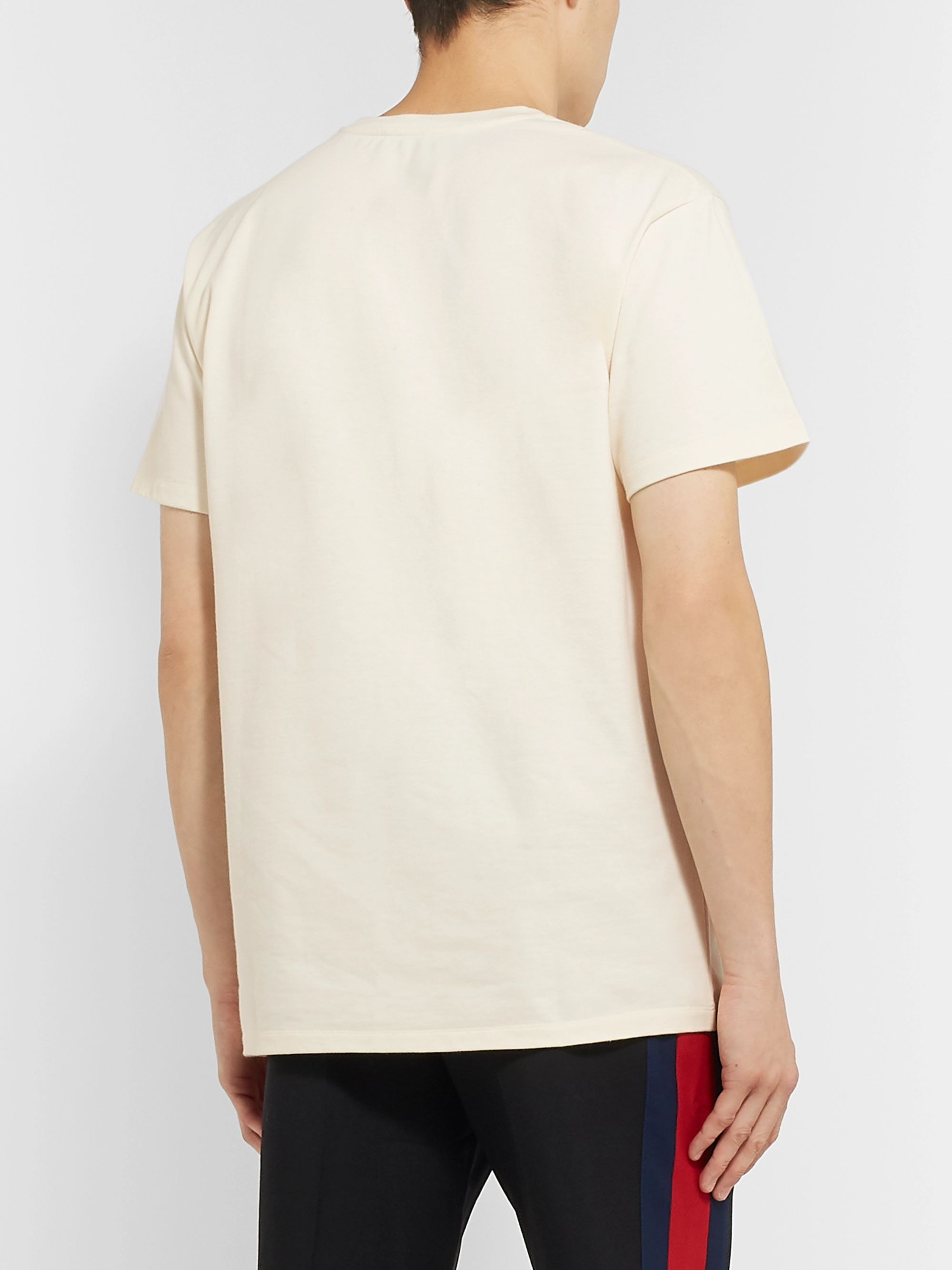 Gucci Logo-Embroidered Cotton-Jersey T-Shirt