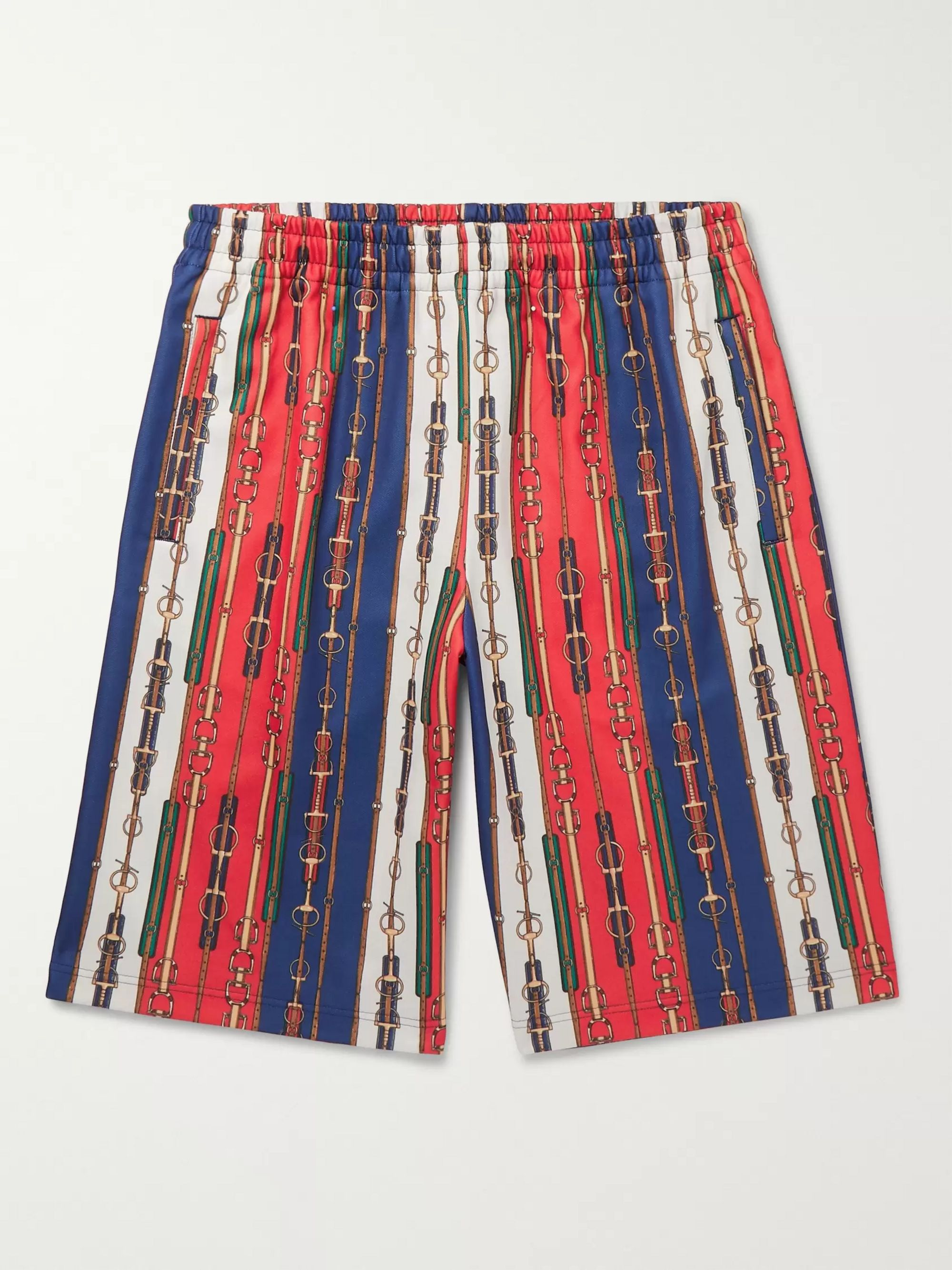 구찌 Gucci Printed Tech-Jersey Shorts,Multi