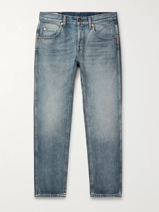 GUCCI Slim-Fit Cropped Tapered Denim Jeans