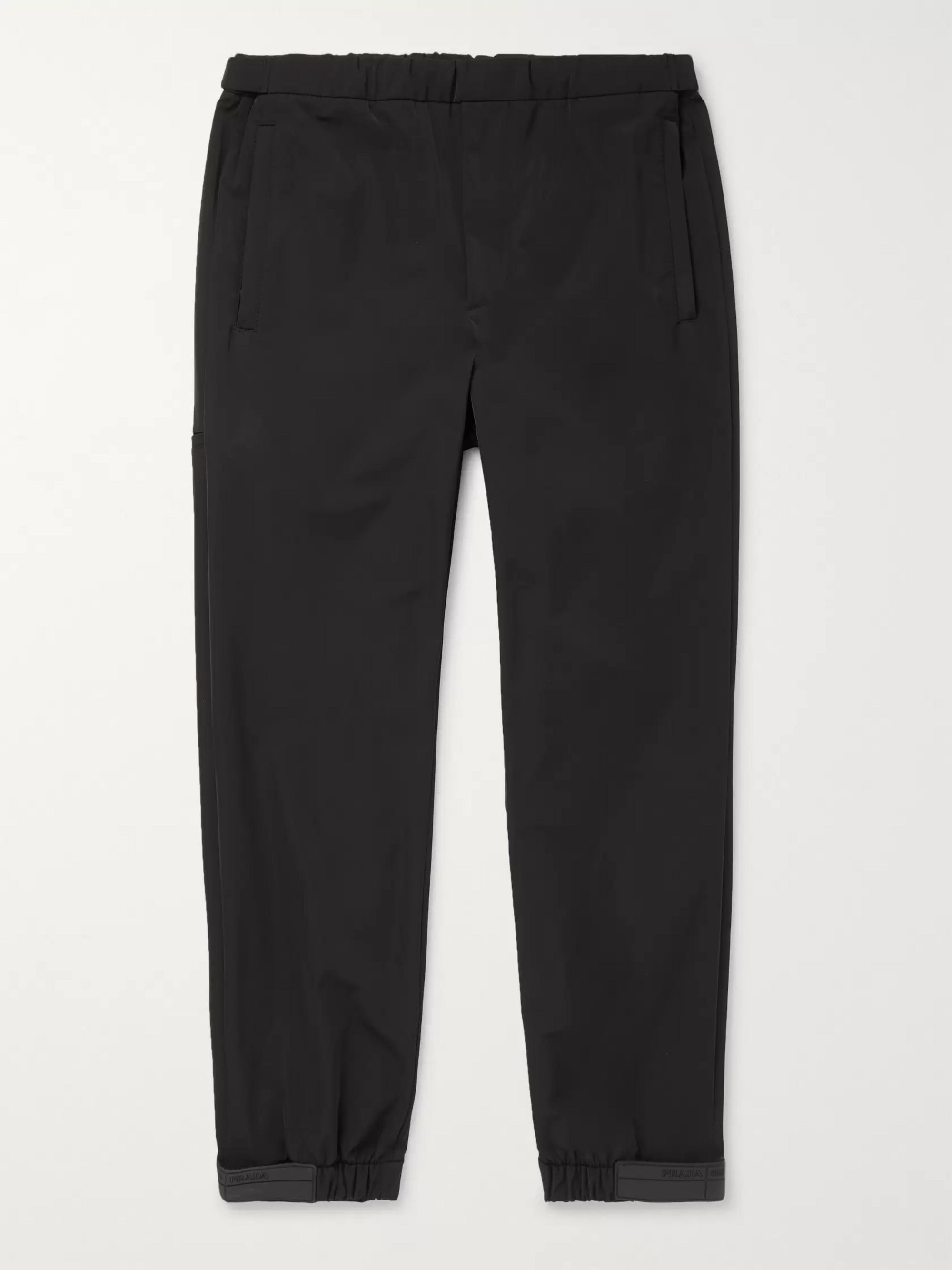 Prada Black Tech-Nylon Drawstring Trousers