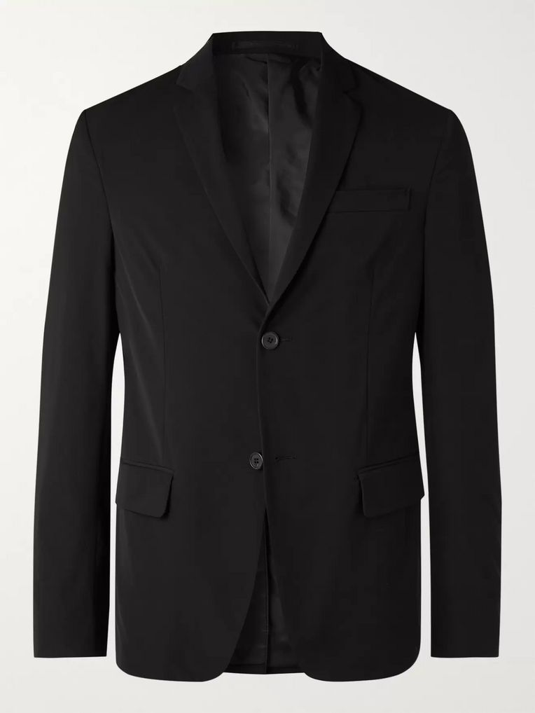 Prada Black Slim-Fit Tech-Twill Suit Jacket