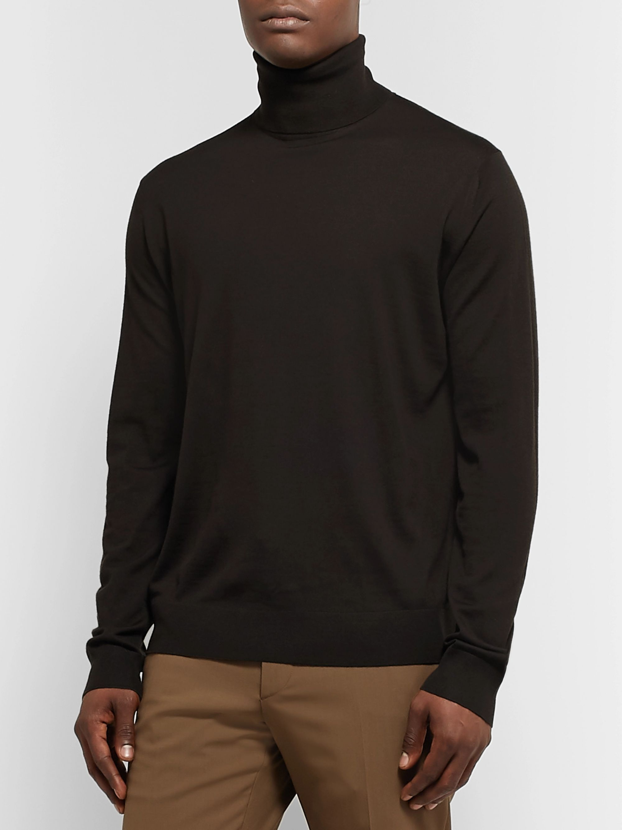 Prada Virgin Wool Rollneck Sweater