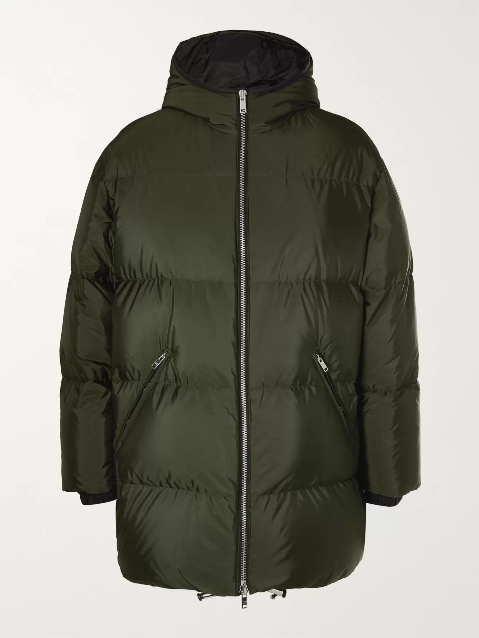 Prada Quilted Shell Hooded Down Jacket