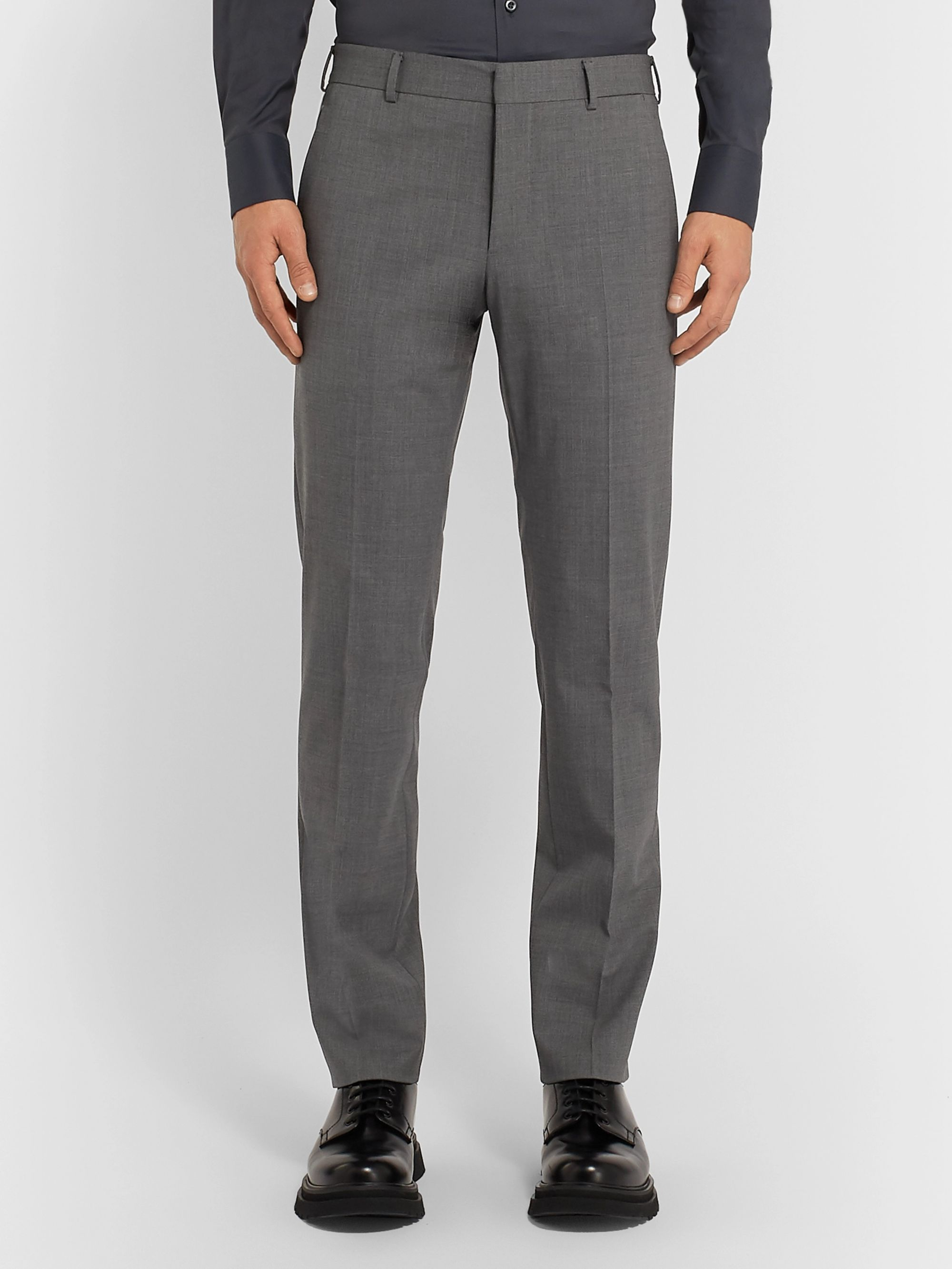 Prada Black Wool-Blend Suit
