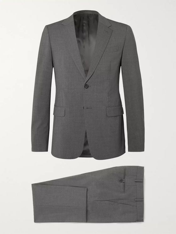 Prada Grey Slim-Fit Wool-Blend Suit