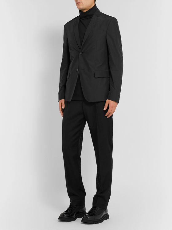 Prada Black Slim-Fit Nylon Blazer