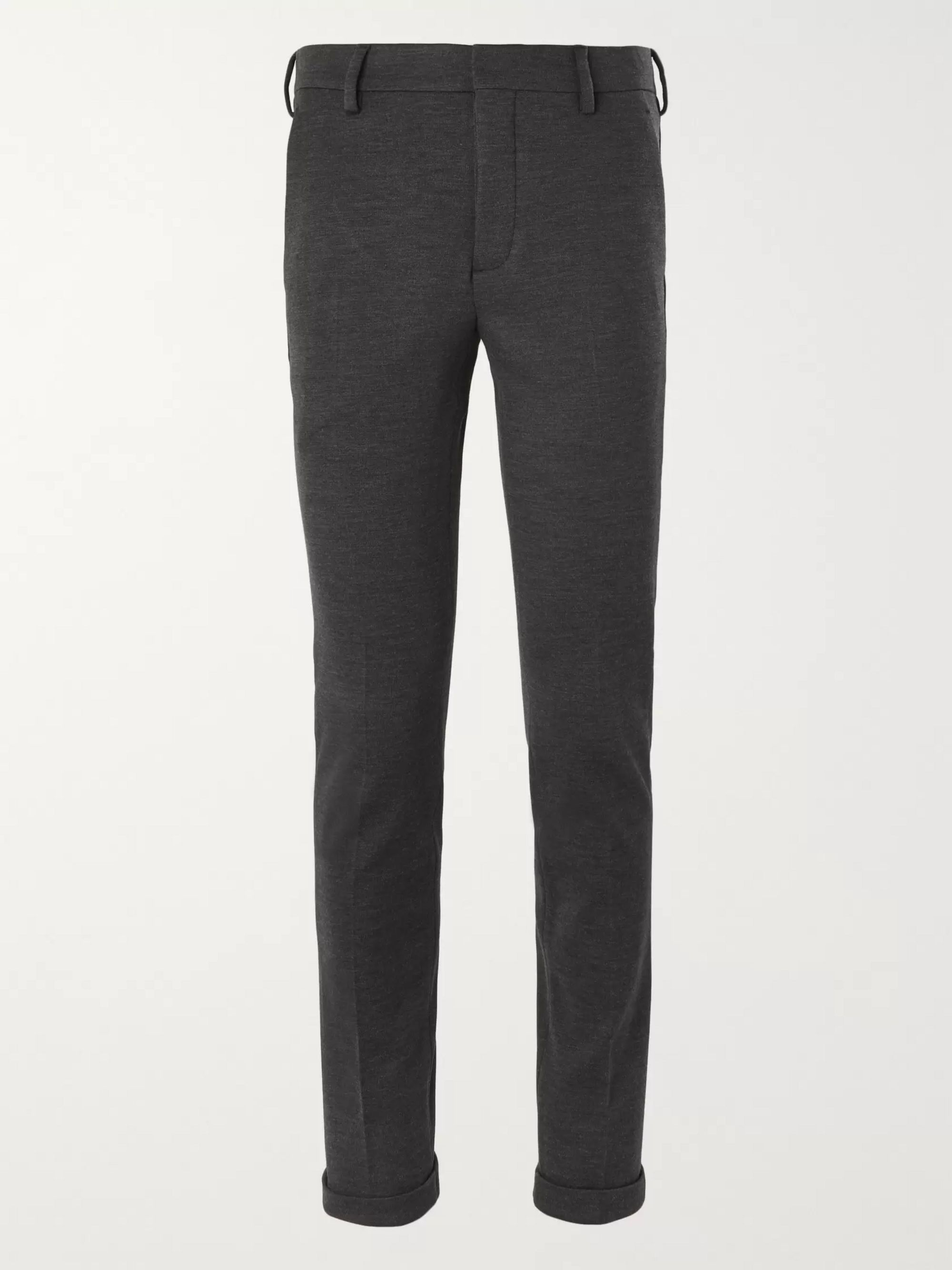 Prada Charcoal Slim-Fit Virgin Wool-Jersey Suit Trousers