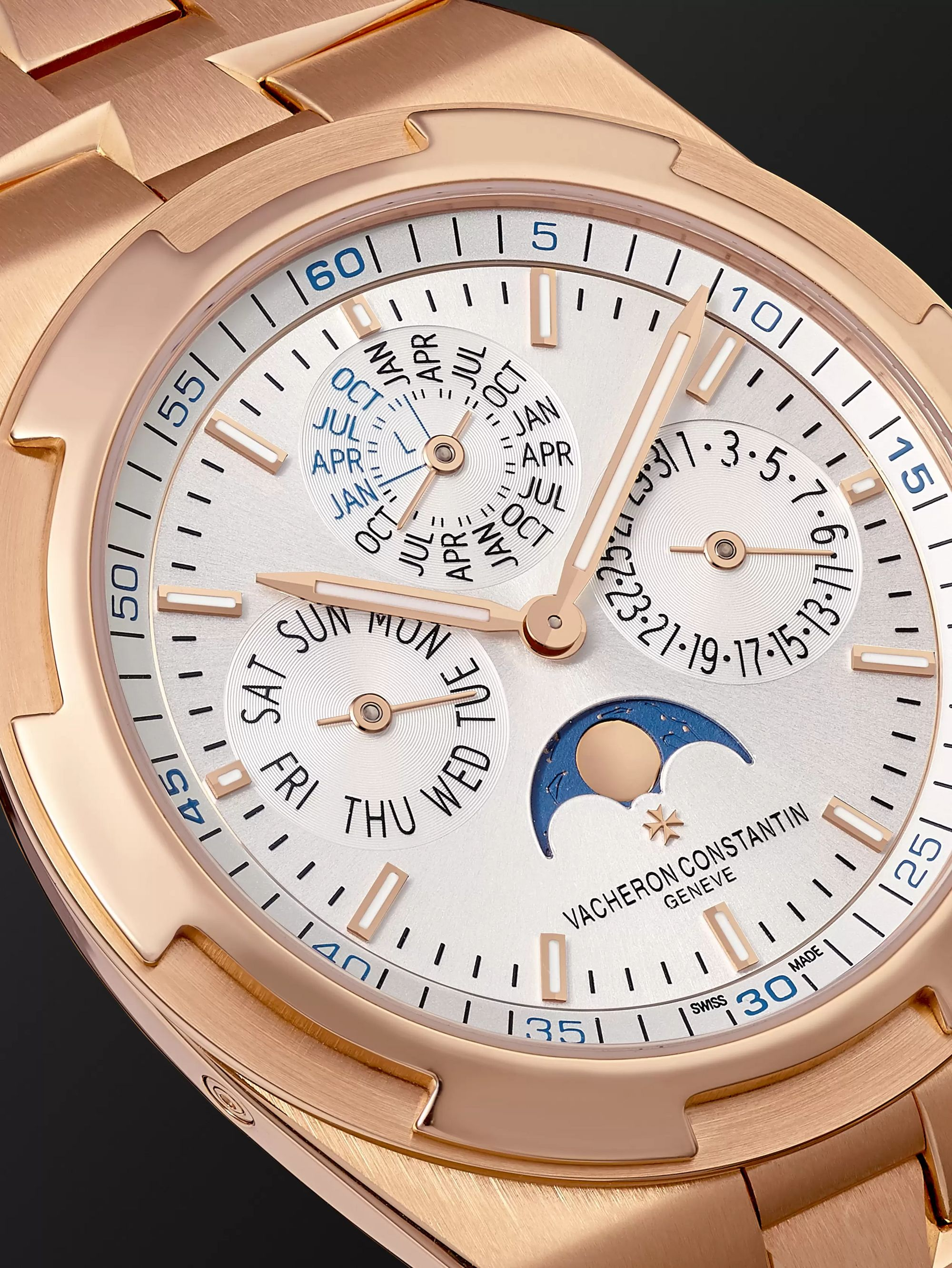 Vacheron Constantin Overseas Perpetual Calendar Automatic 41.5mm Ultra Slim 18-Karat Rose Gold Watch, Ref. No. 4300V/120R-B064