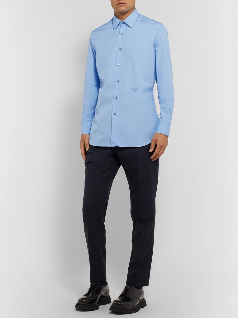 Prada Slim-Fit Cotton-Poplin Shirt