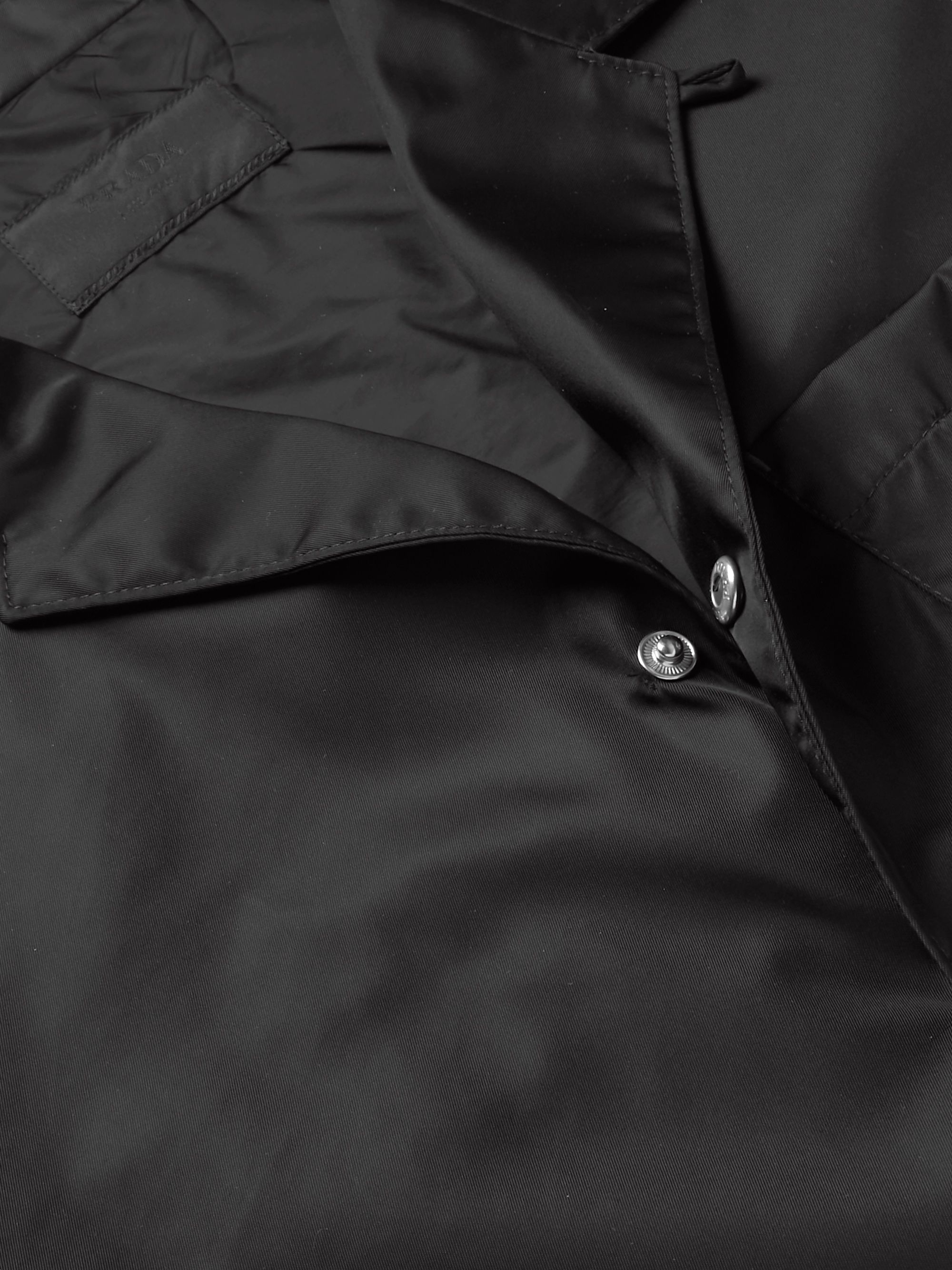 Prada Camp-Collar Logo-Appliquéd Nylon Overshirt