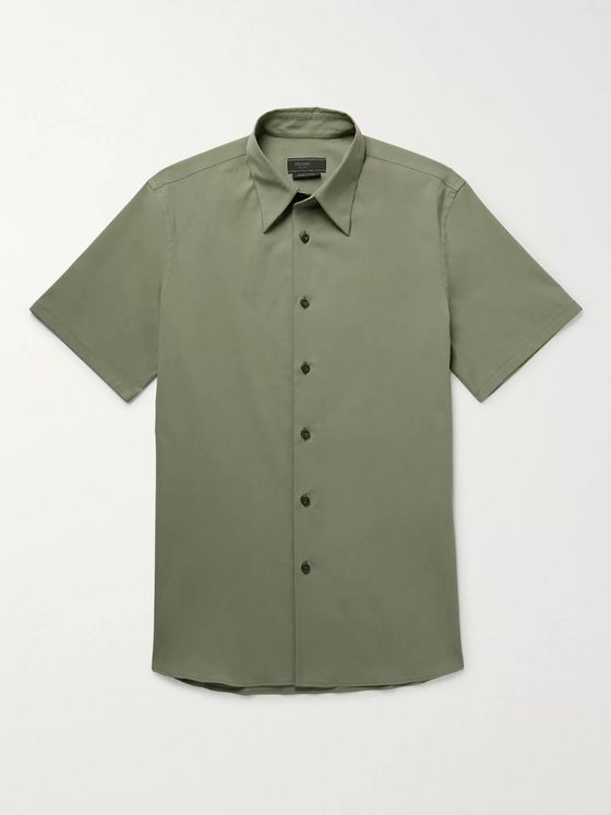 Prada Cotton-Blend Poplin Shirt