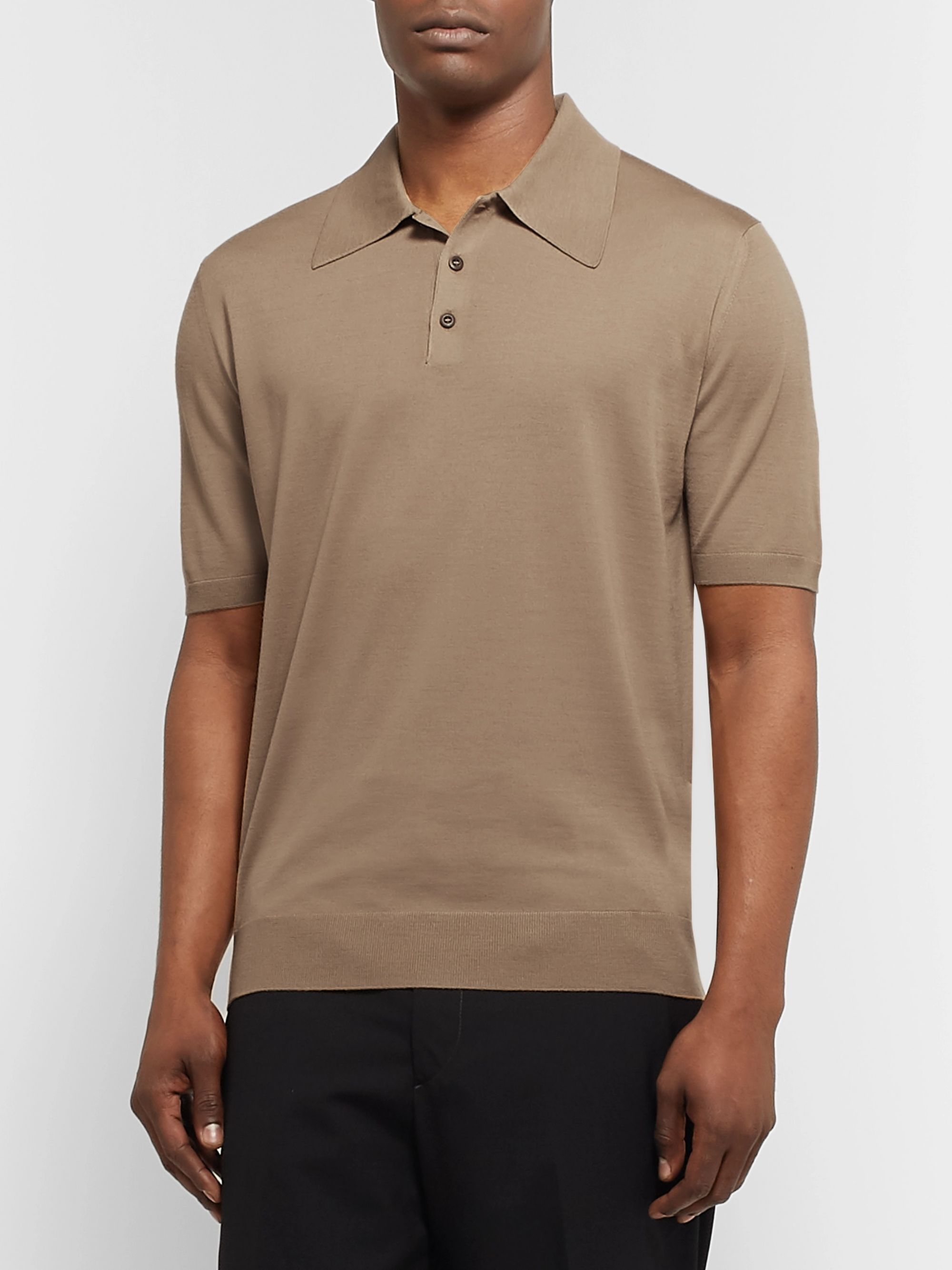 Prada Virgin Wool Polo Shirt