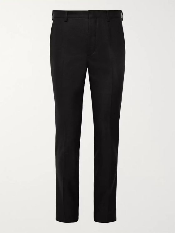 Prada Black Slim-Fit Wool-Flannel Suit Trousers