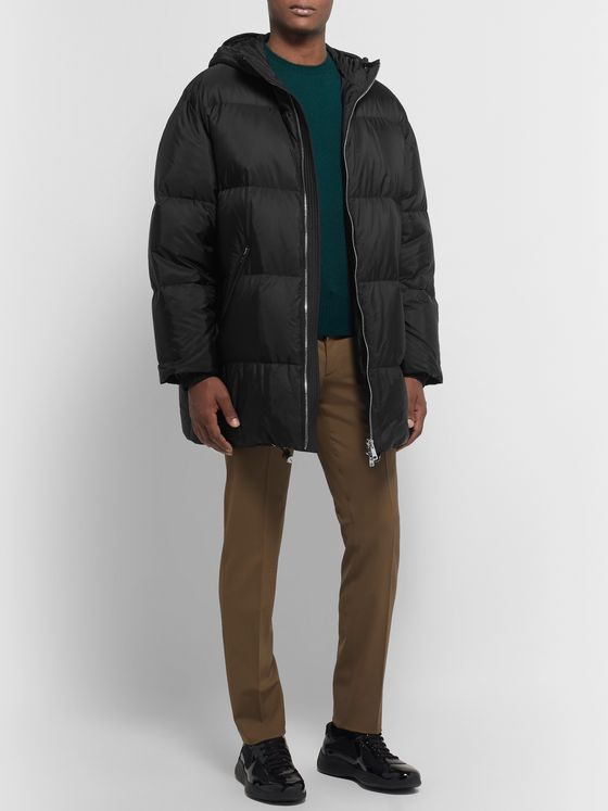 Prada Nylon Hooded Down Jacket