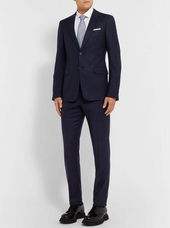 PRADA Navy Slim-Fit Wool-Blend Suit