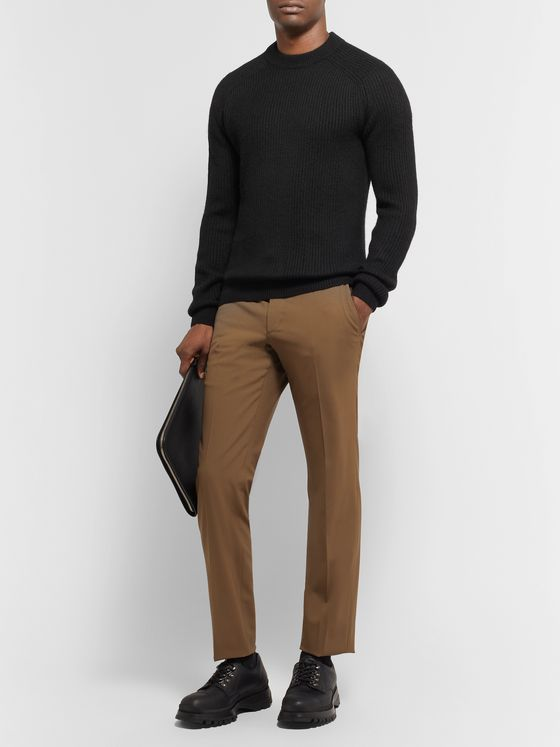 Prada Slim-Fit Ribbed Alpaca Sweater