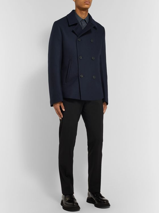 Prada Padded Virgin Wool Peacoat