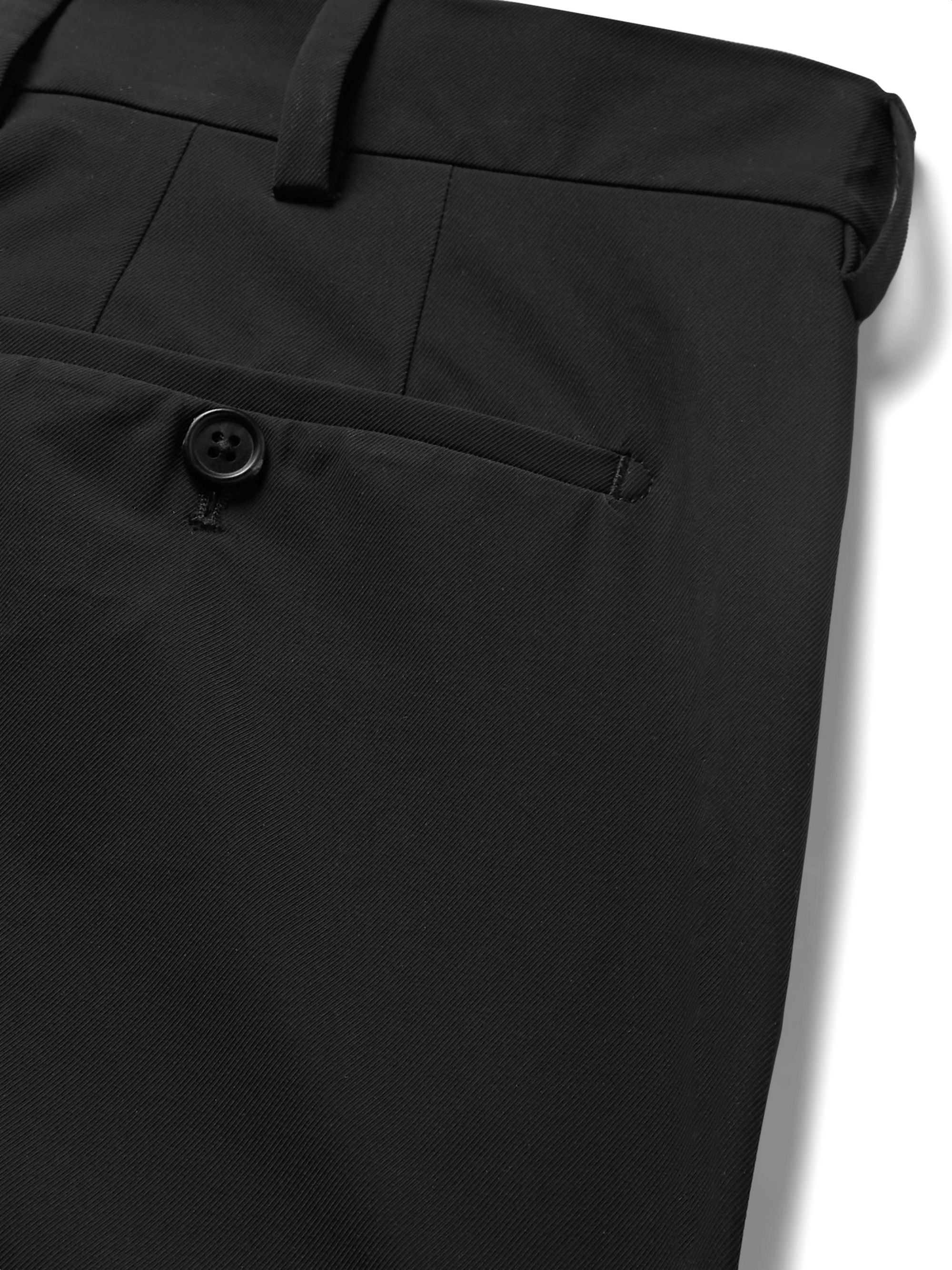 Prada Black Slim-Fit Tapered Tech-Twill Trousers