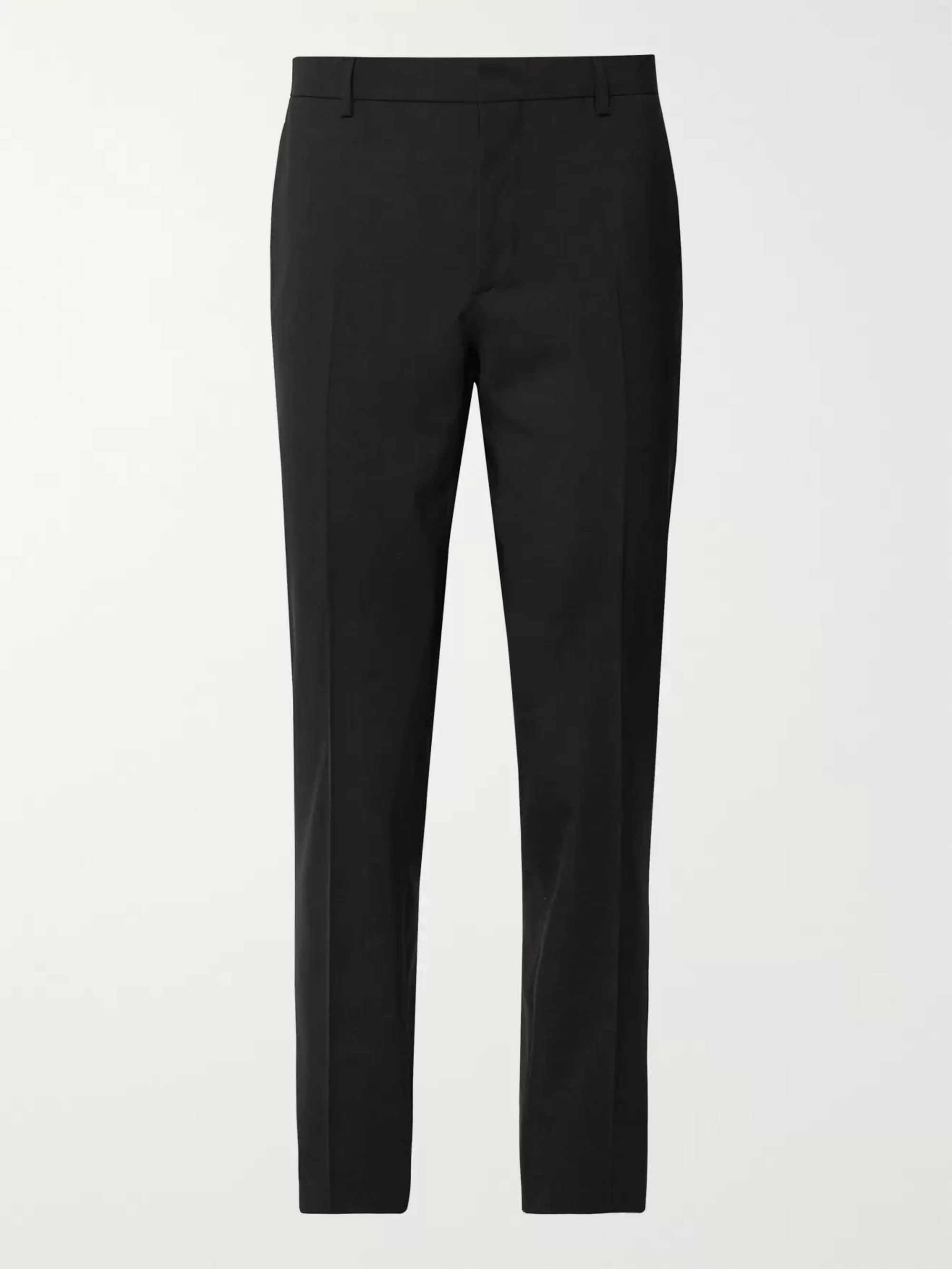 Prada Tan Slim-Fit Stretch-Virgin Wool Trousers