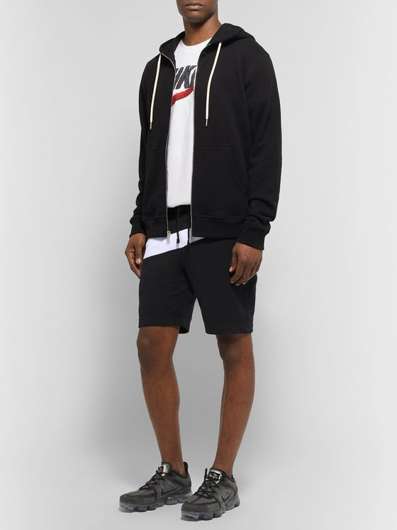 Nike Slim-Fit Logo-Panelled Loopback Cotton-Blend Jersey Shorts