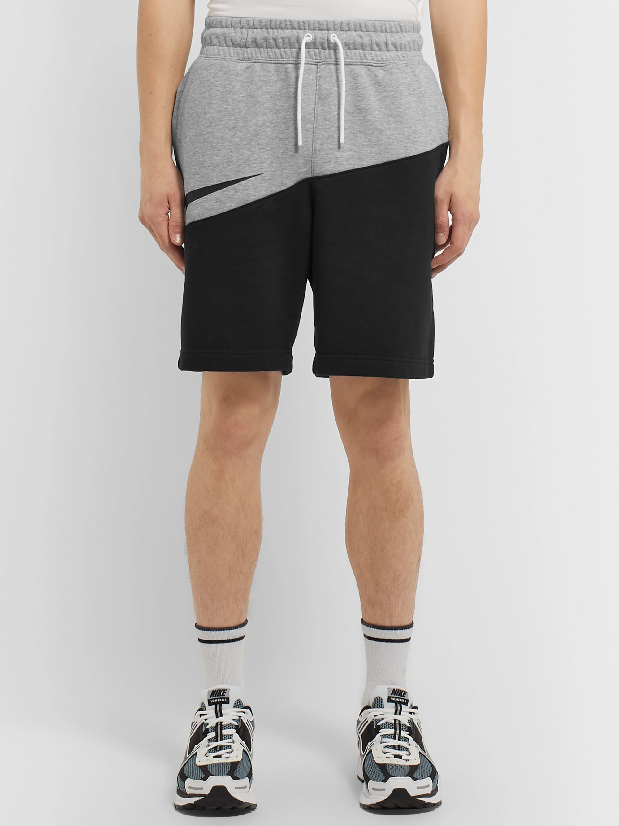 Nike Logo-Print Loopback Cotton-Blend Jersey Shorts