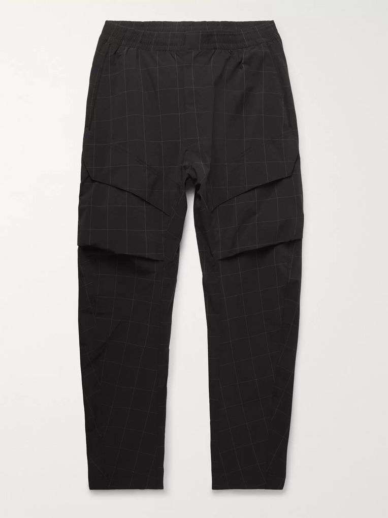 Nike Tech Pack Tapered Checked Stretch Nylon-Blend Cargo Trousers
