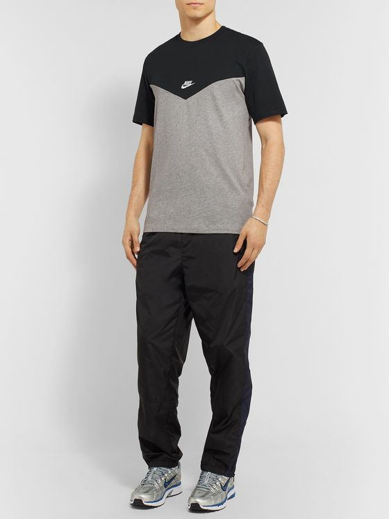 Nike Logo-Embroidered Colour-Block Cotton-Jersey T-Shirt