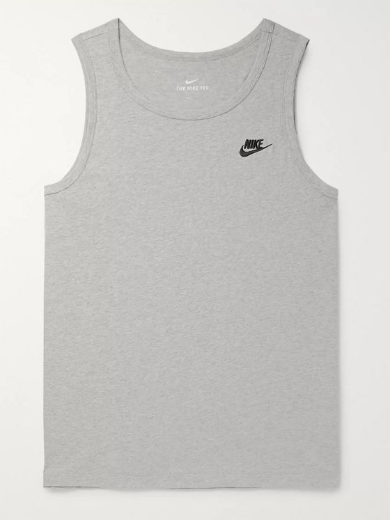 Nike Logo-Embroidered Cotton-Jersey Tank Top