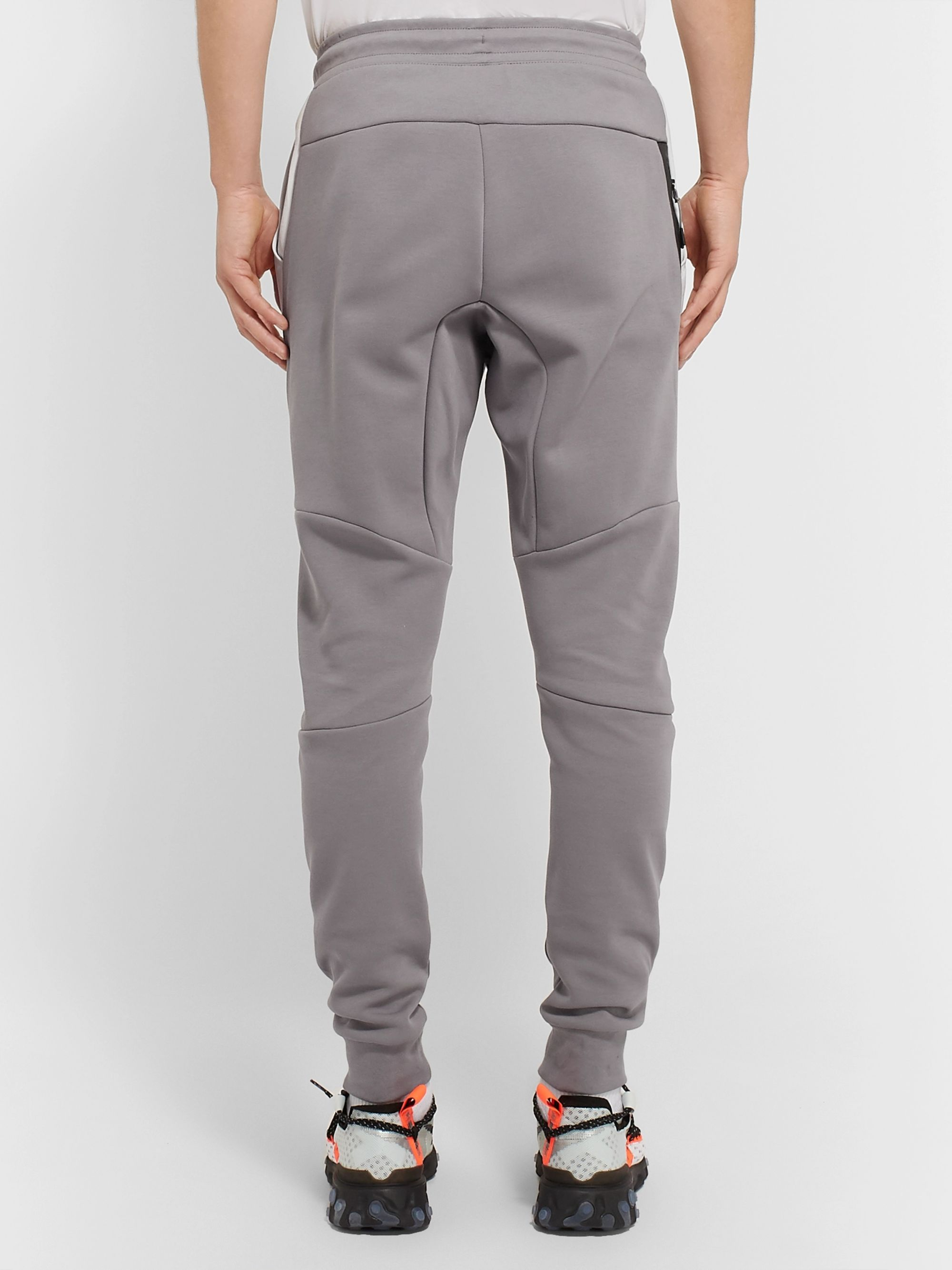 Nike Logo-Print Panelled Tech-Fleece Track Pants