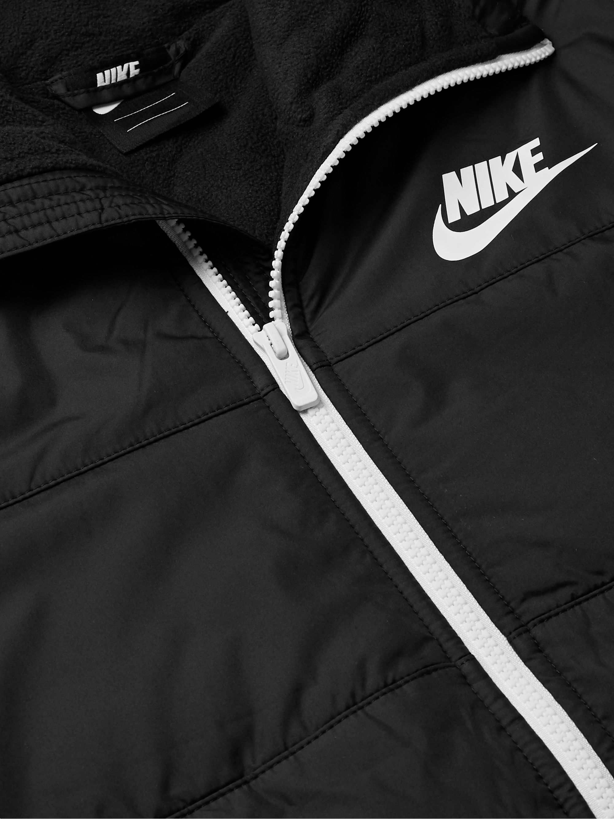 Nike Logo-Print Quilted Shell Hooded Jacket