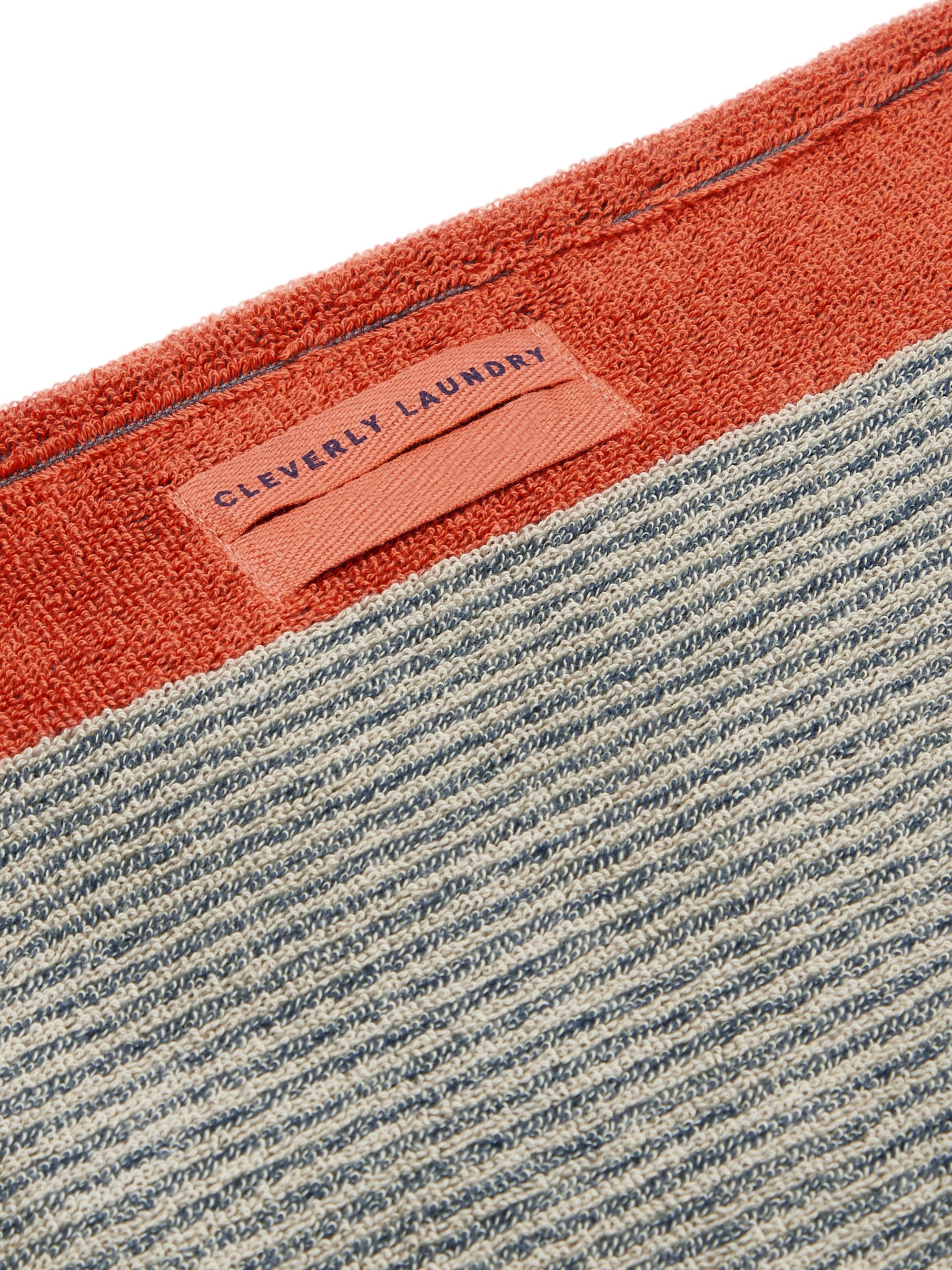 Cleverly Laundry Set of Two Striped Cotton-Terry Hand Towels